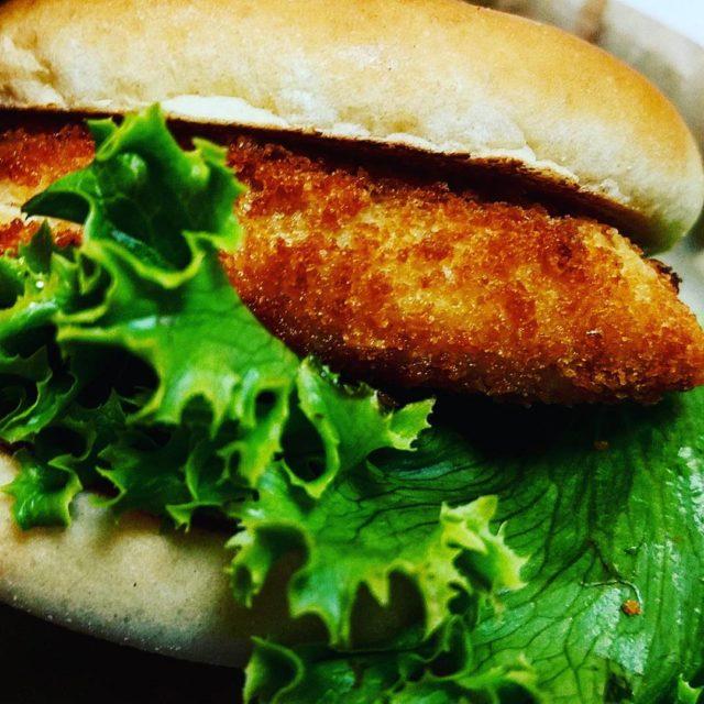 Halibut sandwich from Burgerville yum food fish